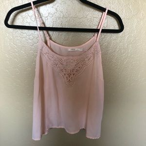 Light pink spaghetti strap blouse
